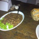 Filé ao molho roti e roska com pimenta dedo de moça no Santo Antonio Botequim