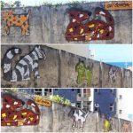Diversas obras de arte de Bel Borba estão espalhadas pelas ruas de Salvador