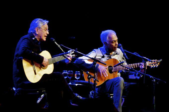 Caetano Veloso e Gilberto Gil em Salvador