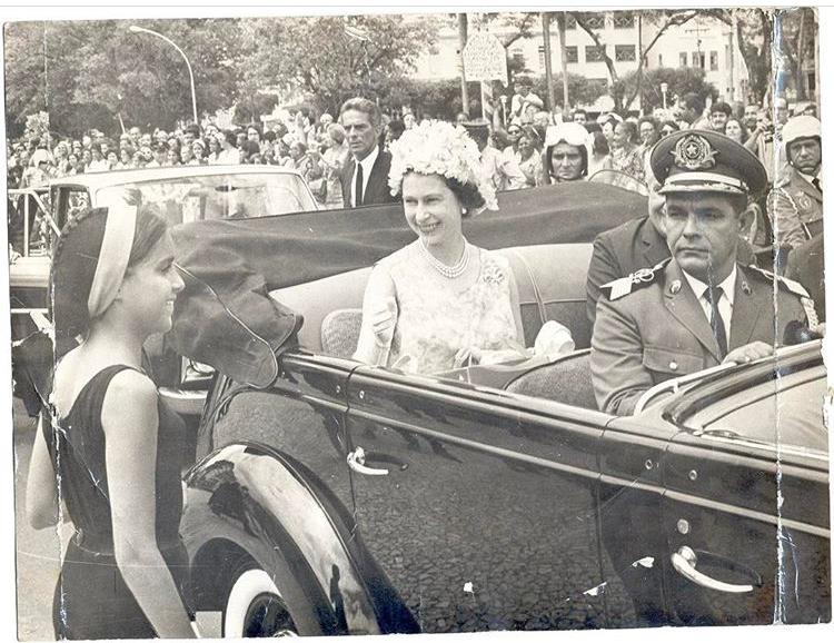 Rainha Elizabeth II no Brasil 1968
