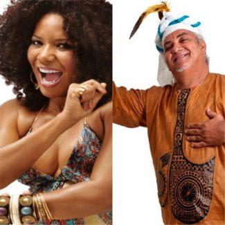 Geronimo e Margareth Menezes no Pelourinho