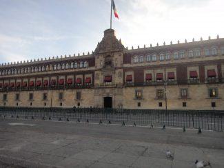 O Palácio Nacional é a sede do Poder Executivo Federal do México