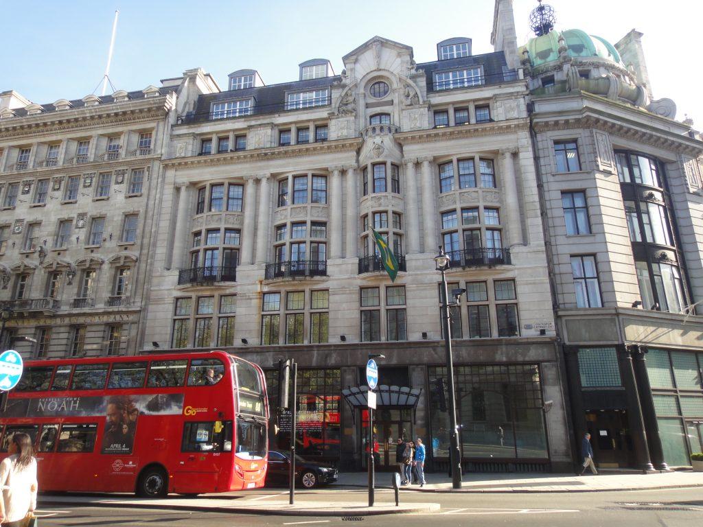 Ruas de Londres - Trafalgar Square - Embaixada do Brasil em Londres