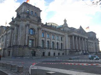 Visitando o edifício do Reichstag em Berlim