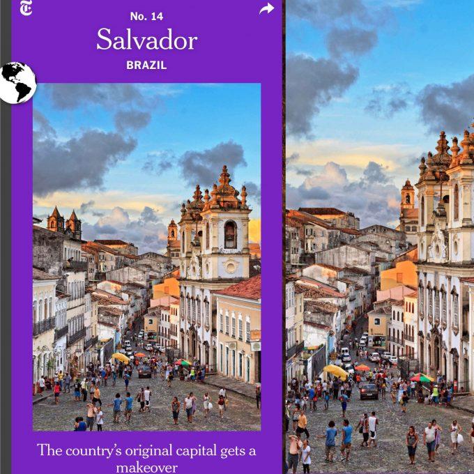 New York Times coloca Salvador na lista de destinos para visitar em 2019