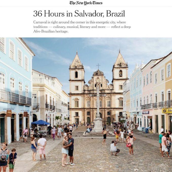 """Tem mais Salvador no NY Times na Coluna """"36 Hours"""""""