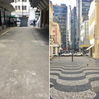 Pensar Salvador | Calçadões de cimento x pedra portuguesa